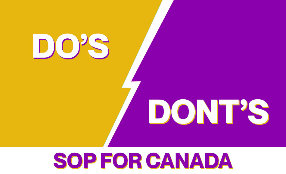 Dos and Don't in SOP Before You Apply for Any University in Canada.